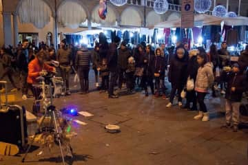 Street show in Faenza in Italy
