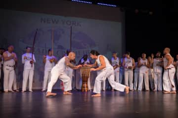 Edwin at his recent cord ceremony for Capoeira training