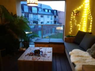 cosy terrace in any season