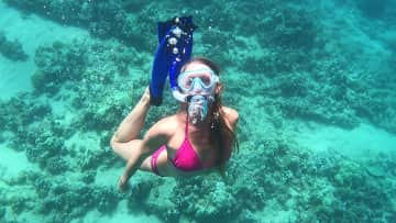 I LOVE snorkeling. This is in Maui, where I used to live