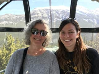 Banff with my daughter.