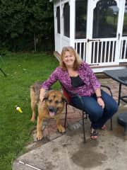 With my fur-baby, Bud (who does not like to pose for pictures!) Haha
