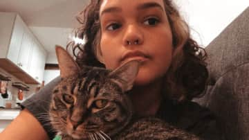 Me and Cleo, my cat. #rbf