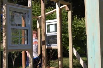 Tom building chicken coop