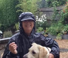 Wet day for a walk with Henry