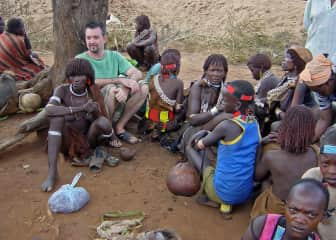 Dan with the Hamer tribe in South Omo Ethiopia
