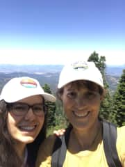 My daughter and me on a hike to Grizzly Peak near Ashland, OR, June 2019