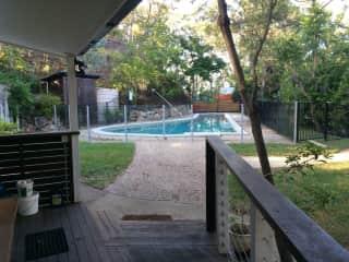 Pool from back veranda