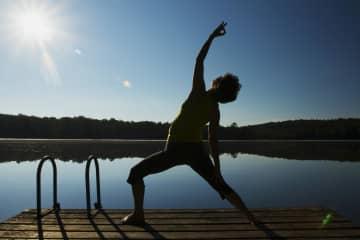 Meg teaches yoga.