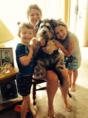 Zoe with grandkids, Austin& Ashley