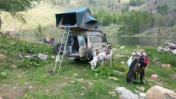 Our Landcruiser in Albania