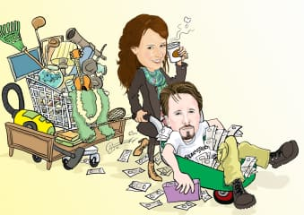 Cartoon drawing depicting our lives on a film set!