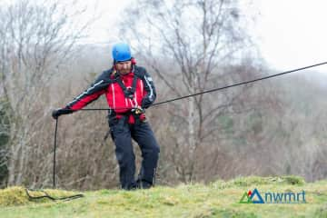 A member of North West Mountain Rescue Team