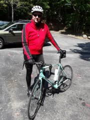 Guy cycling the mountains of Virginia