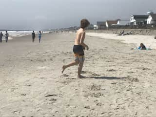I live on the NC coast so I go to the beach a lot.