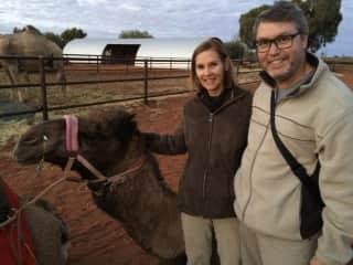 The Joseys with Tyson in Uluru