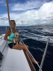 Me sailing with Rex