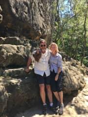 Anna and John Greer hiking Czek Republic