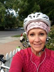 Happy after a beautiful bike ride