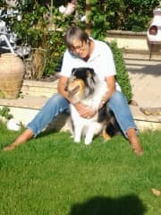 Ann with one of her favourite breed.
