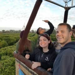 First hot air balloon experience in California's Southern Wine Country