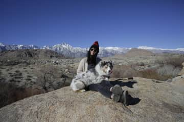 Me and Katy in Bishop, California on a road trip from Portland to Orange County.