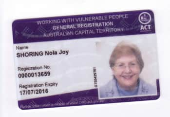Working with Vulnerable people card