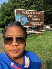 Me on many a walk and exploration of wetlands in Virginia.
