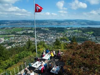 A short hike to this tea house, which overlooks the lake and city.