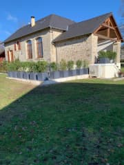 Our house and garden in the Correze which we've been updating.