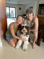 Taking great care of a house and our new friend Jetty in Florida.
