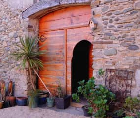 The Moroccan doorway to the small barn, Spring 2021