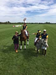 me and my family at the Polocrosse Nationals in the UK