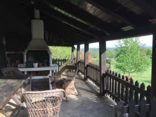 Terrace with barbecue.