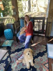 Getting to know Piper Mae and Harley Ann in beautiful South Carolina :)