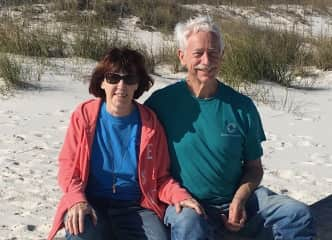 Here we are at the beach near where we live now in Alabama.