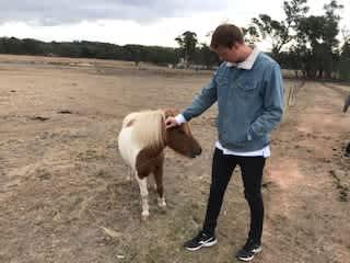 Alex with Sebastian the shetland pony