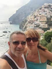 My husband and I in Positano, Amalfi Coast, Italy ♡ One of our favourite places on Earth ♡