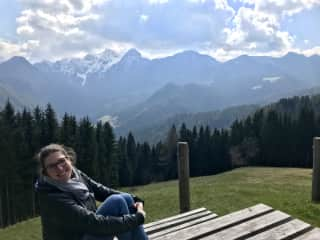 In the Slovenian mountains.