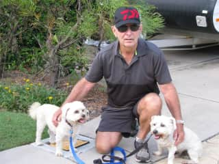 Bill with Charlie & Bailey