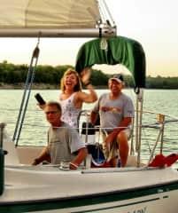 We enjoy sailing nearby