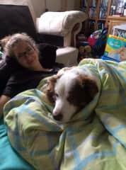 Emilia and family dog Lex