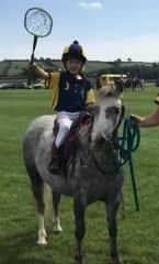 Grandson all ready for polocrosse