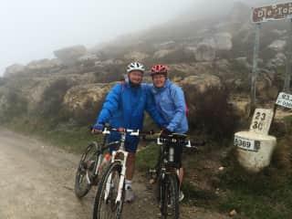 Hooray! Just summited the Swartberg Pass of 1500 meters .