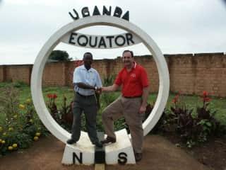 Rick doing volunteer work in Uganda, Kenya and Ethiopia.