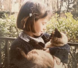 Me as a kid, with my cat