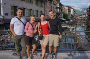 Us with the lovely friends in France