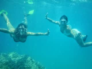 My friend Mar and me doing snorkeling