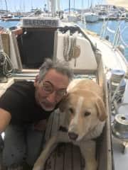 Yorgo and Thor, sailing!