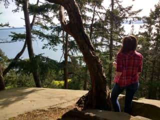 Sarah; College Visit Road Trip in Northern Coastal Washington.
